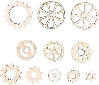 Amosfun – Botões de quebra-cabeça de madeira, peças de madeira inacabadas, artesanato, faça-você-mesmo, decorações de pint...