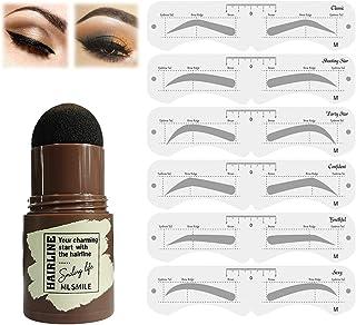 Ögonbrynsstämpel Vattentät, Brow Stamp Shaping Kit Eyebrow Definer (Svart brun)