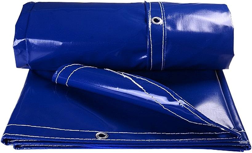 LIYFF-Bache Bache de Prougeection extérieur imperméa Feuille résistante imperméable de bache de Bleu bache pour Le Camping de pêche de Camping, épaisseur 0.5mm, 500g   m2 - 100% imperméable et UV a pr