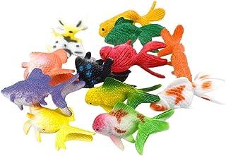 Koojawind 12 Unids De Plástico Goldfish Animal Juguetes Niños Fiesta de Cumpleaños de Regalo Decoraciones del