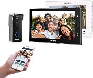 "TMEZON 10"" Wireless Video Doorbell Intercom WIFI IP Door Phone Montion Detection Entry System with 1x720P Security Camera ..."