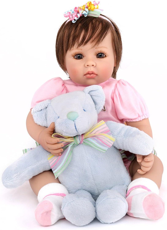 Reborn Baby Dolls Handmade Lifelike Realistic Silicone Vinyl Baby Doll Soft Simulation Eyes Open Girl Favorite Gift