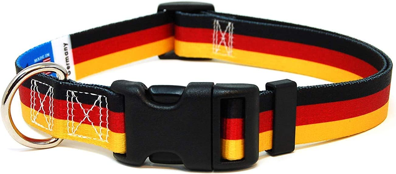 Great for National Holidays Independence Days and Every Day Strong Safe XSmall Small Medium Large XLarge PatriaPet Dog Collar with The Lithuania Flag Festivals Special Events