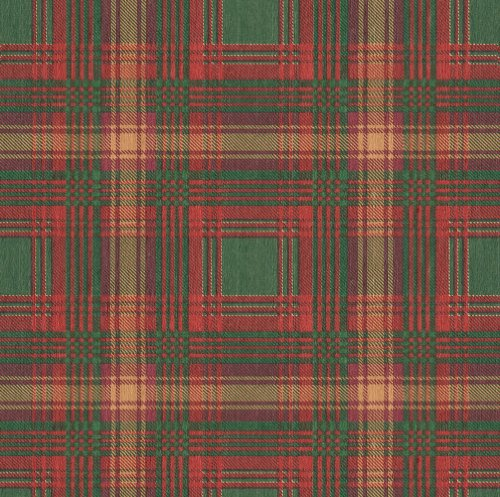Caspari - Rollo de Papel de Regalo, diseño escocés, Color Rojo