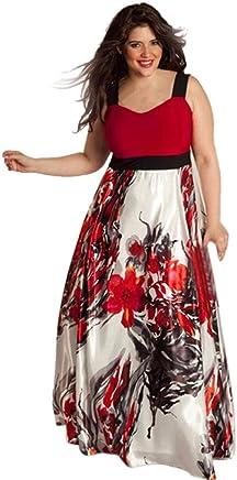 890428678c Summer Dress, Women's Sexy Sleeveless Floral Print Pockets Long Party Maxi  Skirt Dress Back Zipper