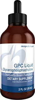 Designs for Health GPC Liquid Drops - 600mg Glycerophosphocholine, Choline Brain Support from Sunflower Lecithin (30 Servings / 2oz)