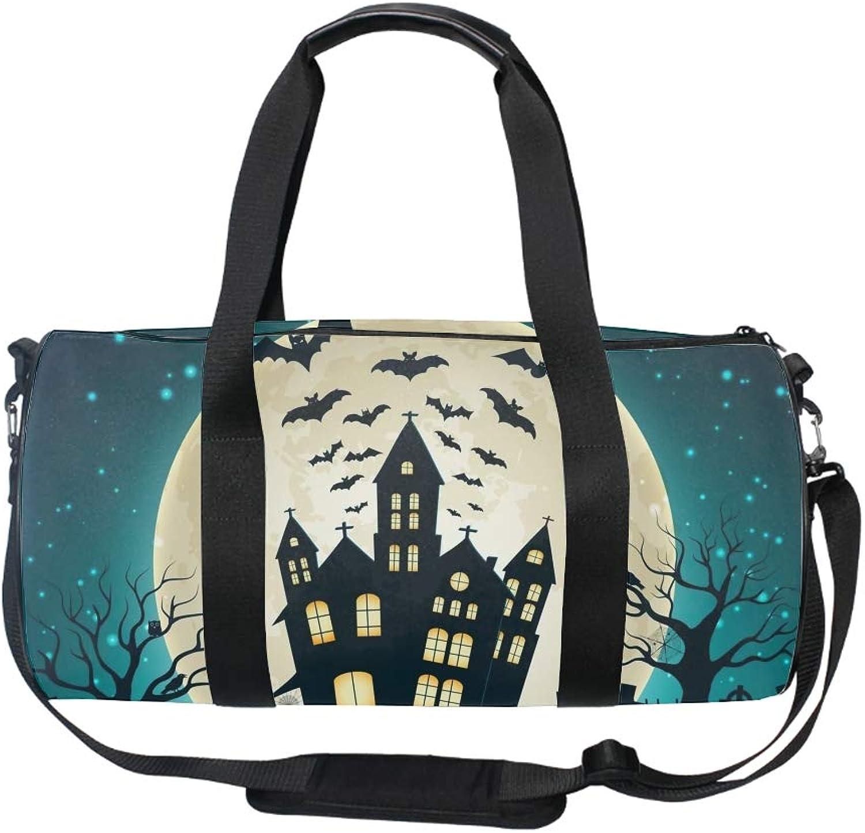 Water Resistant Gym Sports Dance Travel Weekender Duffel Bag Halloween Castle Party