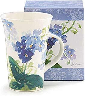 Burton & Burton 9728540 Forget Me Not Flowers 13 oz Ceramic Mug, 5