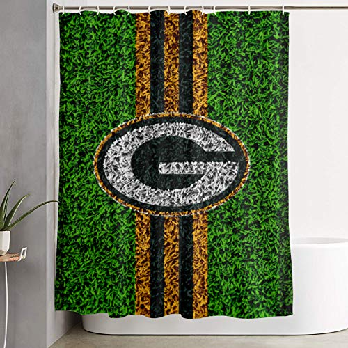 Green Bay Packers Shower Curtain Bathroom Shower Stall Waterproof Fabric Curtain with 12 Hooks for Modern Home Bathroom Decorations Curtains Machine Washable 59 x 70 inche