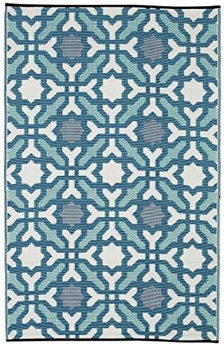 FAB HAB Seville - Multicolor - Azul Alfombra/tapete para Interiores y Exteriores (240 cm x 300 cm)