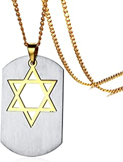 Argent Sterling 925 étoile de David Pendentif 12 Tribus d/'Israël Kabbalah Bijoux