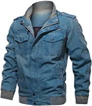 Men's Autumn Winter Tops American Style Vintage Breathable Washing Jacket Coat