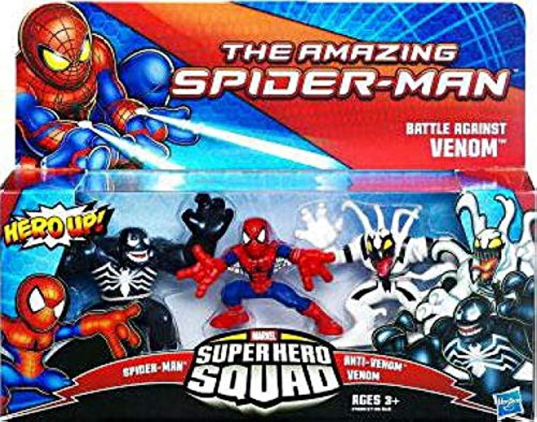 Hasbro Amazing Spiderman Super Hero Squad 3Pack Battle Against Venom Spiderman, Antivenom
