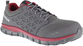 Reebok Work Men's Sublite Cushion Work EH Grey/Red Synthetic 7.5 E US E - Wide