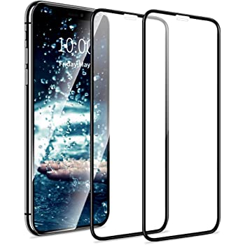 Tempered Glass Film Screen Protector 25 PCS Titanium Alloy Metal Edge Full Coverage Front Tempered Glass Screen Protector for iPhone 11 Pro Max//XS Max Black Color : Silver