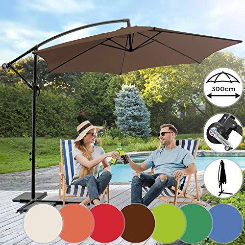 Nova Ombrellone da Giardino - Decentrato, Ø 3m, Girevole, Impermeabile, Disponibile in 7 Colori - Parasole da Terrazzo, Balcone, Esterno