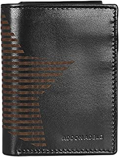 addon adele Black Tri-Fold Men's Wallet