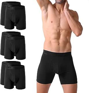 Mens Cotton Boxer Briefs No Ride Up Underwear Fly Front with Pouch (6Pack) S M L XL XXL XXXL 3XL 4XL