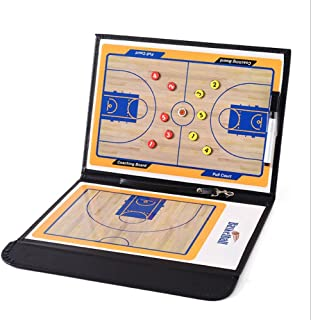 Basketball Coaching Board Coaches Clipboard Tactical Magnetic Board Kit with Dry Erase, Marker Pen and Zipper Bag (Basketball Board)