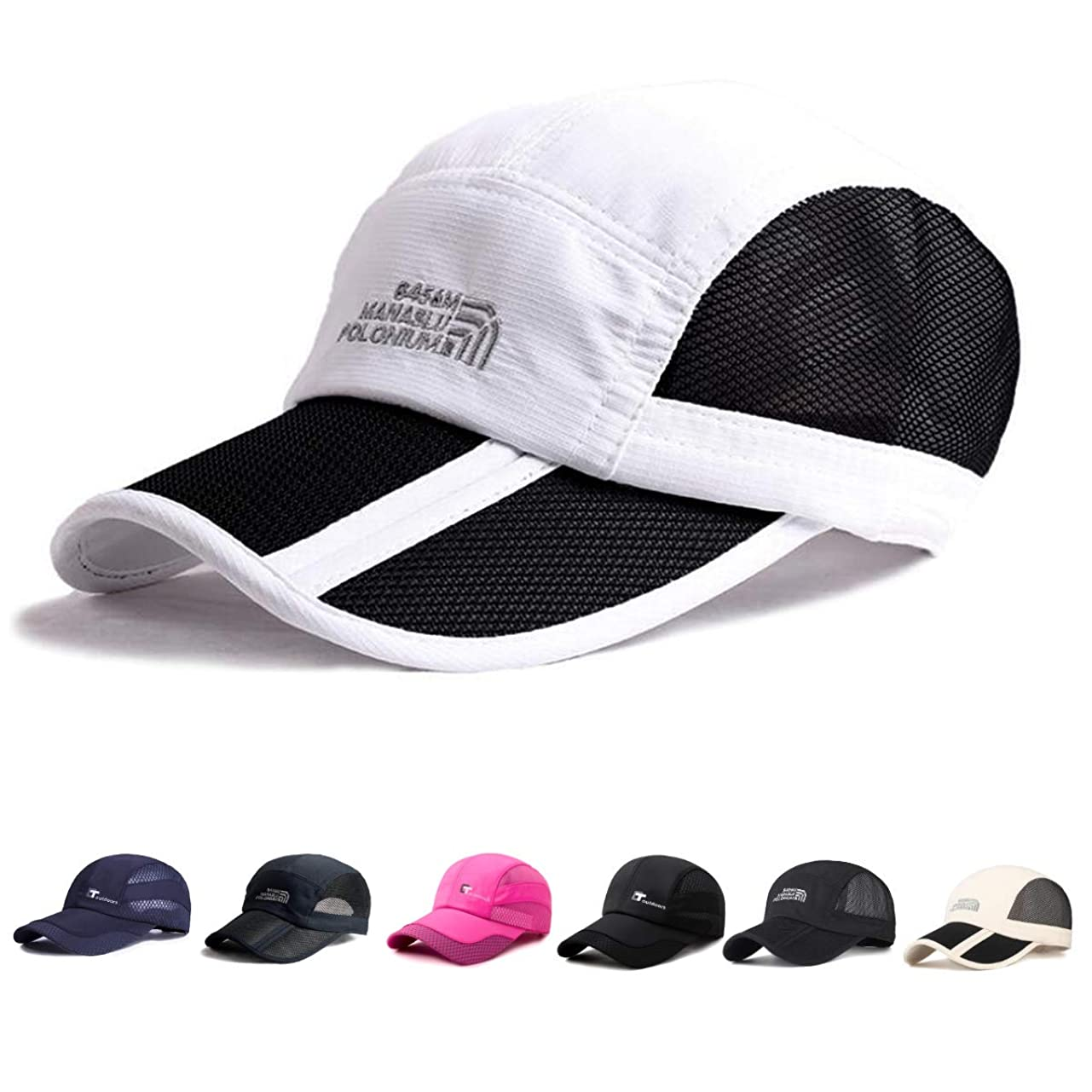 無知気味の悪い材料LARVOLS キャップ メンズ スポーツ帽子 折りたたみ メッシュキャップ ゴルフ 野球帽 通気性 日除け 紫外線対策 超軽量 釣り アウトドア 登山 遠足 ランニング 運転