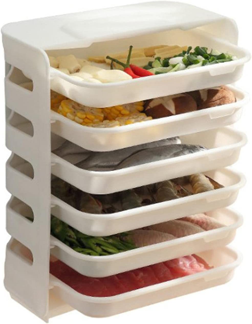 oftenrain Vegetable Max 50% OFF Storage Meat Rack,Plate,Stackable Max 50% OFF Fruit