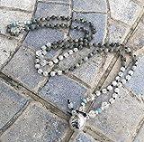 BOLA grossesse en collier Pierre de Lune, Labradorite, argent 925 pierres naturelles semi-précieuse