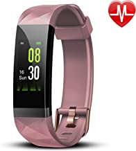 Letsfit Fitness Tracker, Activity Tracker Watch with Heart Rate Monitor, IP68 Waterproof Fitness Wristband with Step Counter, Calorie Counter, Smart Watch for Women and Men