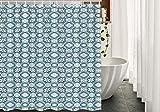 Vintage blau getönten hellblauen & schieferblauen Duschvorhang Badezimmer-Sets Haken wasserdichter Polyester-Vorhang