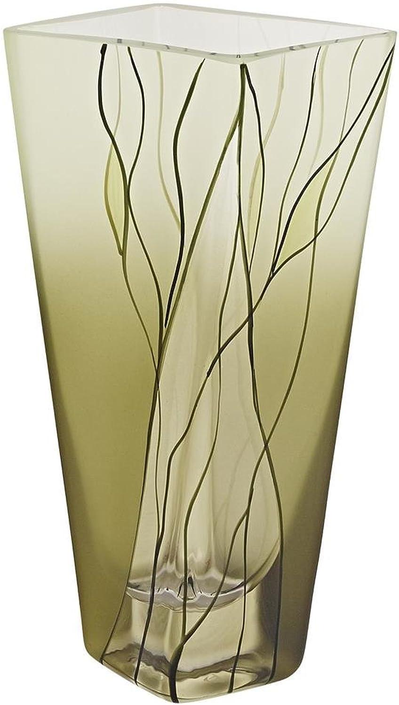 Badash CD107 8  Evergreen European Hand Decorated Square Vase