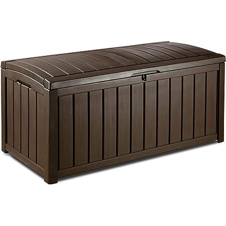 Keter - Arcón exterior Glenwood, Capacidad 390 litros, Color marrón