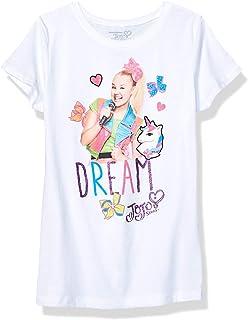 JoJo Siwa Girls' Dream & Unicorns Short Sleeve Tee