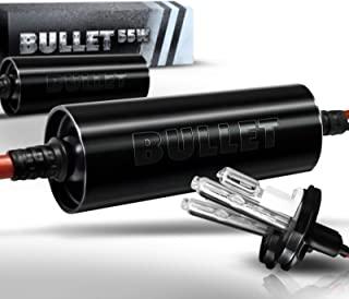 OPT7 Bullet Choice HID H4 9003 Hi-Lo 55W Xenon Kit - 3x Brighter - 4x Longer Life - All Bulb Sizes and Colors - 2 Yr Warranty [6000K Lightning Blue Xenon Light]