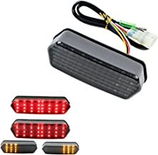 Yibid LED Integrated Tail Light for 2014-2018 Honda Grom MSX 125 Motorcycle, Turn Signal Taillight Brake Stop Running Indicator Sequential Lights for MSX125/SF CBR650F CTX700 CTX700N, Smoke Len
