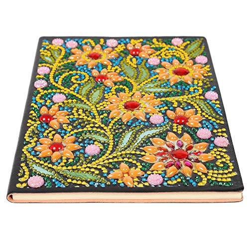 DIY diamante pintura cuaderno de bocetos portátil 50 páginas A5 cuaderno inalámbrico familia y novia cuaderno de bocetos diario secreto de mandala