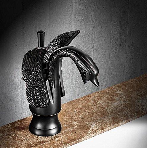 Makej Grifo De Bronce Engrasado Negro Europeo Antiguo Latón De Soild Grifo De Agua Golpecito Del Dragón O Del Cisne