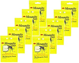 AgraCo Mosquito Skin Patch Body Absorbs 36-Hour Mosquito Deterrent All Natural Deterrent Deet-Free Made In The USA Family Travel 2-Pack (20 patches)