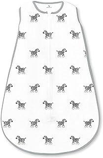 Amazing Baby Muslin Sleeping Sack with 2-Way Zipper, Zebra, Black, Medium