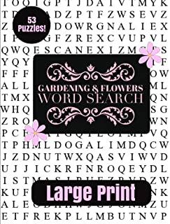 Gardening & Flowers Large Print Word Search