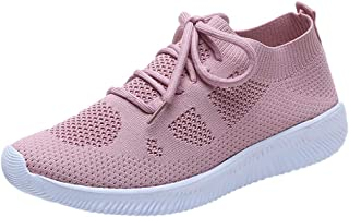 Respctful✿Women Mesh Shoes Casual Walking Shoes Gym Breathable Sports Ankle Sneakers