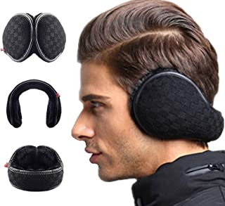 Ear Warmers Foldable for Men Women Fleece Unisex Winter Earmuffs Outdoor