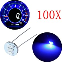 cciyu 100Pcs 4.7mm-12v Car Blue Mini Bulbs Lamps Indicator Cluster Speedometer Backlight Lighting Replacement fit for GM GMC