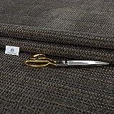 Haaris Imaan Chunky Chenille Woven Upholstery <span class='highlight'>Fabric</span> | Fire Retardant | Ex DFS | <span class='highlight'>Fabric</span> Per Metre | Curtain, Cushion, Reupholstery, Soft Furnishings, Sofa (Charcoal)