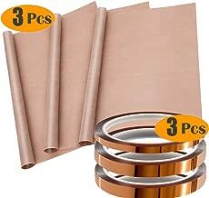 Heat Tape for Heat Press Cridoz 4pcs Sublimation Teflon Heat Transfer Sheets with 4pcs Heat Press Tape for HTV Heat Transfer Vinyl