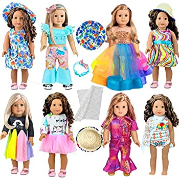 ARTST 18-inch Doll-Clothes and Accessories - Compatible with 18 inch American-Girl Dolls My-Life-Dolls Our-Generation-Dolls.