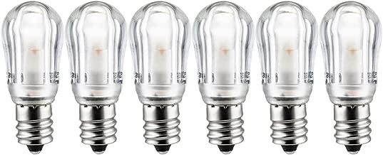 Sunlite 41069-SU LED Night Light Bulb S6 Indicator Lightbulb Non Dimmable, Chandelier E12 Base, 6 Pack, Warm White