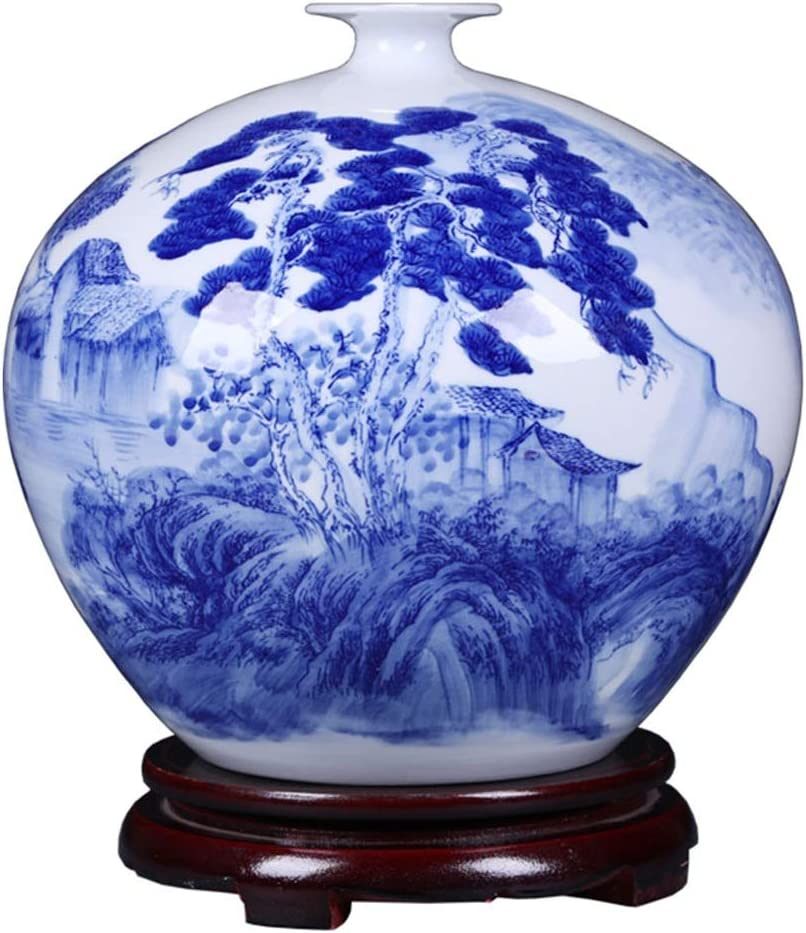 PANGPANGDEDIAN Grave Vase Ceramic Shipping included Chinese Max 71% OFF Ornaments New Blu