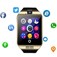 Smartwatch with Camera & Music Remote for Android - Smart Watch Fitness Tracker with Heart Rate &...