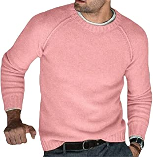 pipigo Mens Rib-Knit Regular Fit Turtle Neck Comfort Solid Color Pullover Sweater