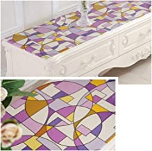 YYQIANG Table Cover Protector, Table Pads Waterproof Oil-Proof Anti-Static Geometric Patterns Plastic Coffee Table Pad, 1m...