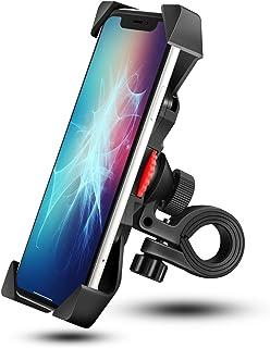 Grefay Support de Vélo Moto Téléphone Guidon de Vélo Moto Berceau Collier avec Rotation 360 pour 3,5 à 6,5 Pouces GPS pour...